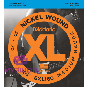 D'ADDARIO EXL160 - Струны БАС regular long, 050-105.