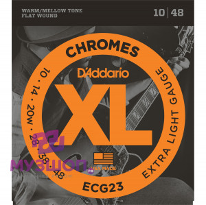D'ADDARIO ECG23 - струны для электрогитары Extra Light, хром, 3-я в оплётке, 10-48